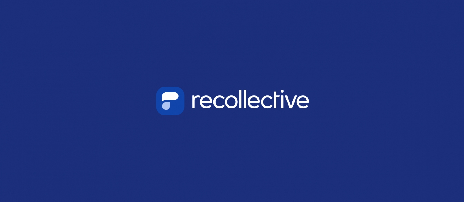Recollective Logo on Brand Color