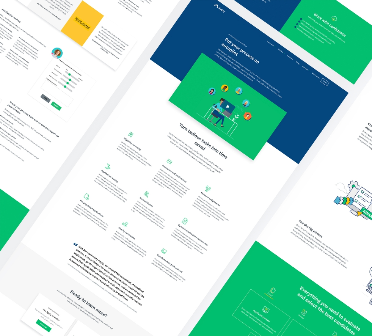 SurveyMonkey Apply Page Mockups